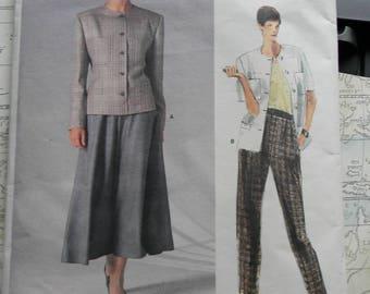 Vintage Vogue Jacket, Skirt, and Pants Pattern #1859 Uncut Size 16