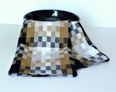 Handwoven Turned Twill Chef's Towel, Kitchen Towel, Tea Towel with Architectural and Graphic Design Flare