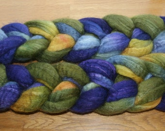 Blueface Leicester Tussah Silk Spinning Fiber - 'A Painter Passing Through'