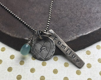 build your own charm necklace trio
