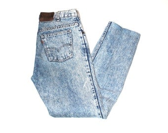 vintage levis jeans 80s rare high waisted acid washed levis skinny jeans
