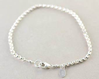 Sterling Silver Chain Bracelet, Silver Chain Bracelet, Everyday Bracelet, Minimalistic