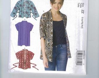 Misses Sewing Pattern McCalls M7201 7201 Asymmetrical Trapeze Jacket Nancy Zieman Size 4 6 8 10 12 14 or 16-18-20-22-24-26 UNCUT