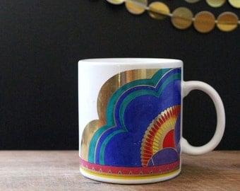 Plum Blossom. 1990s Laurel Burch mug.
