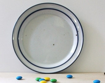 Dansk Blue Mist stoneware bread and butter plate, 1970s Danish modern design.