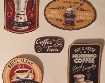 Coffee Patches - Iron On Fabric Appliqués - hippie