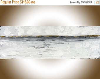 Abstract art abstract painting Gray white wall art Modern Contemporary Art Acrylic painting home office wall hanging by qiqigallery