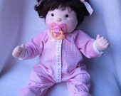 Baby doll, cloth doll, Soft sculpture doll, cloth baby doll, rag doll, waldorf inspired, soft baby, LAST AVAILABLE DOLL for Christmas