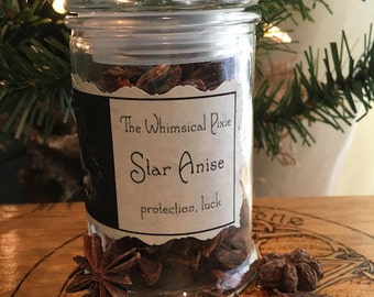 Star Anise in Reusable Apothecary Jar