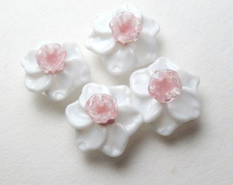 Glass DAFFODIL BEADS, Handmade Lampwork Narcissus, Jonquil, floral beads, glass lampwork bead, lampwork glass beads, flower bead