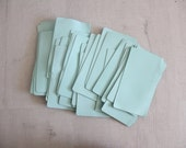 Mint Leather Square.  Supplies Crafting Project