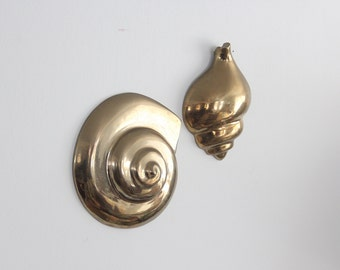 Solid Brass Seashell Wall Hangings