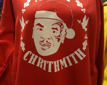 Mike Tyson Merry Christmas sweatshirt