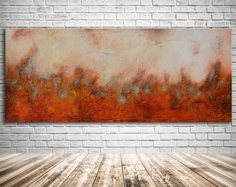 Large Painting, abstract painting, Brown beige painting, Huge Original Abstract Painting, painting on canvas, orange beige Abstract Art
