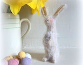 tiny little white mohair Easter bunny rabbit