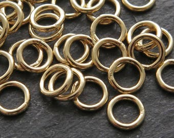 10pcs 6mm Gold Filled Closed Jump Ring ~ 18 gauge (CG8663)