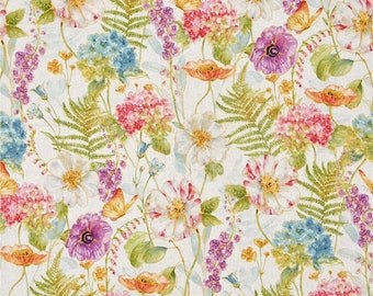 Rainbow Seeds Large Floral  ~ Rainbow Seeds  Collection by Lisa Audit for Wilmington Fabrics, Cotton Quilt