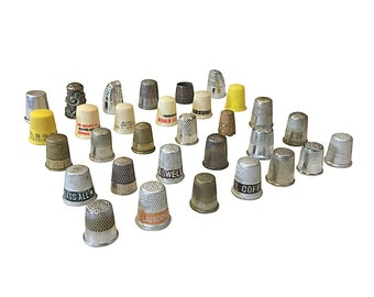 Thimble Collection, Advertising, Promotional, Antique, Vintage Thimbles, Sewing Set