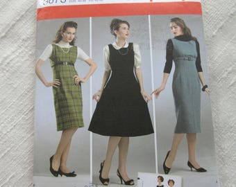 Simplicity Sewing Pattern 1950's Retro Sizes 14,16,18,20,22 Dress Jumper Dated 2007 Uncut Factory Folds