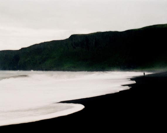 Iceland Photography, Ocean Art Print, Beach, Seascape Print, Black Sand, dreamy wall, Vik,  Photography Iceland, Scandinavian, Dreamy Beach,