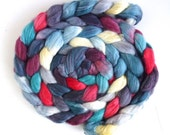 Merino/ Superwash Merino/ Silk Roving (Top) - Handpainted Spinning or Felting Fiber, Cold Outside