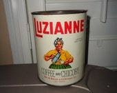 Vintage Luzianne Coffee and Chicory Tin