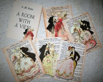 A ROOM WiTH a VIEW - Choice of Gift Tags or Notecards - Victorian, Romantic - Set of 6 - RWAV 5698