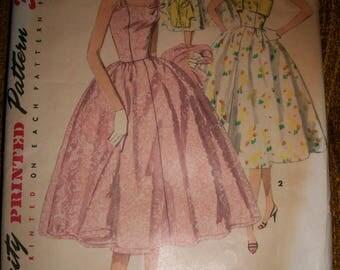 Vintage c. 1955 50s rockabilly semiformal dress jacket pattern XS 29 bust