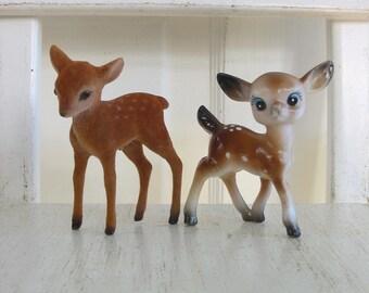 Vintage Deer Figurine, Christmas Deer, Pair Deer, Vintage Reindeer, Christmas Reindeer, Vintage Christmas Decor