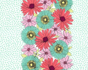 Clearance! 1 yard Garden Path in Pastille Michael Miller Fabrics