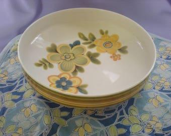 Noritake China Chestnuthill Vegtable Bowl-Flowered China Bowl-Large Striped Bowl