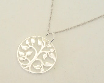 Sterling silver tree of life necklace, Nature Tree Pendant, Perfect gift for birthdays, bride, Anniversary, baby showers, Yoga Necklace, Om