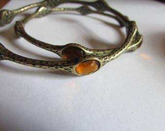 topaz brass bangles