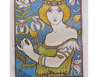Art Nouveau Reproduction Poster 1980s - Decorative Arts Museum - Paul Berthon