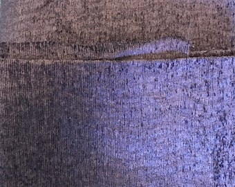 Chenille Purple Lavendar fabric | Remant