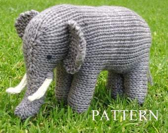 Elephant Knitting Pattern, PDF, Instant Digital Download