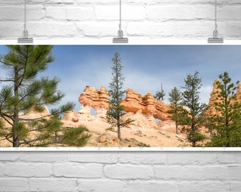 Landscape Panorama, Forest Picture, Bryce Canyon, Utah Photograph, Large Art, Panoramic Art, Utah Art, Western Picture, Desert Hoodoo
