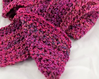 Ambrosia pink and purple Boucle acrylic fluffy scarf perfect for all weather and so stylish too!