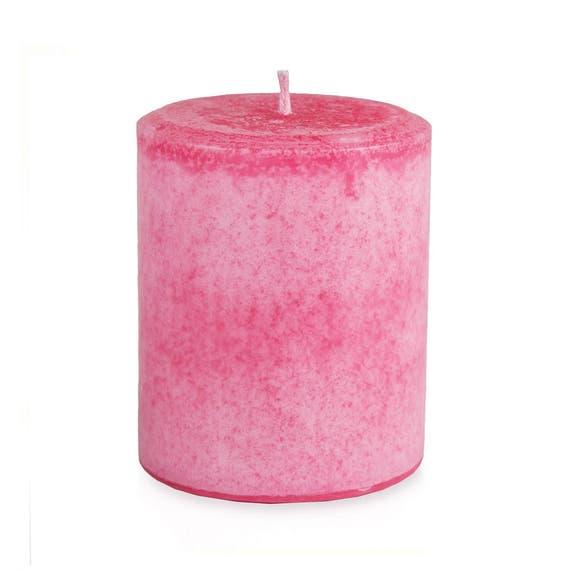 Handmade Rose Pillar Candle, Gift for mom, 14 oz