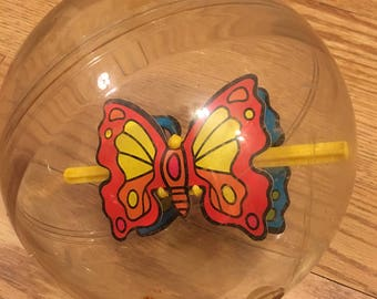 Vintage Rolling Butterfly Ball