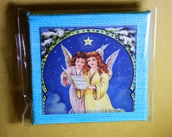 Singing Angels Mini Canvas Magnet - Two Inch