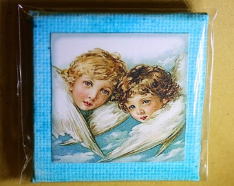 Angels Mini Canvas Magnet - Two Inch