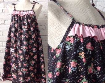 Vintage floral cotton sundress, up to size L