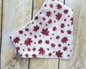 Oh Canada Baby Bandana Bib - Baby - Maple Leaf Bib- Baby Bandana Bib - Gender Neutral Bib - Drool Bib - Baby Shower Gift