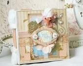 Sweet Baby Handmade Album- Baby Album- Scrapbook Album -Baby- Newborn Baby- Album