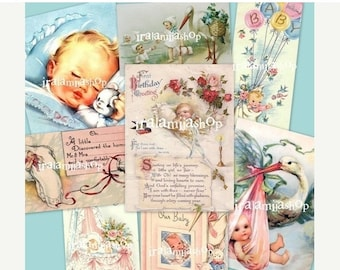 SALE SWEET BABY collage Digital Images -printable download file-