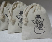 HOLIDAY GIFT  -  Stocking Stuffers  -  Choice Of Cherub Lavender Sachets Or Snowman Fir Needle Sachets  -  Set Of Three Sachet Bags