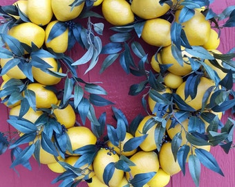 Lemon Lush Wreath....Lemon Wreath