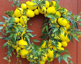 Lemon Wreath #2......Lemons......Front Door Wreath