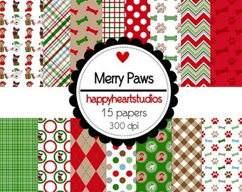 DigitalScrapbooking-MerryPaws-InstantDownload